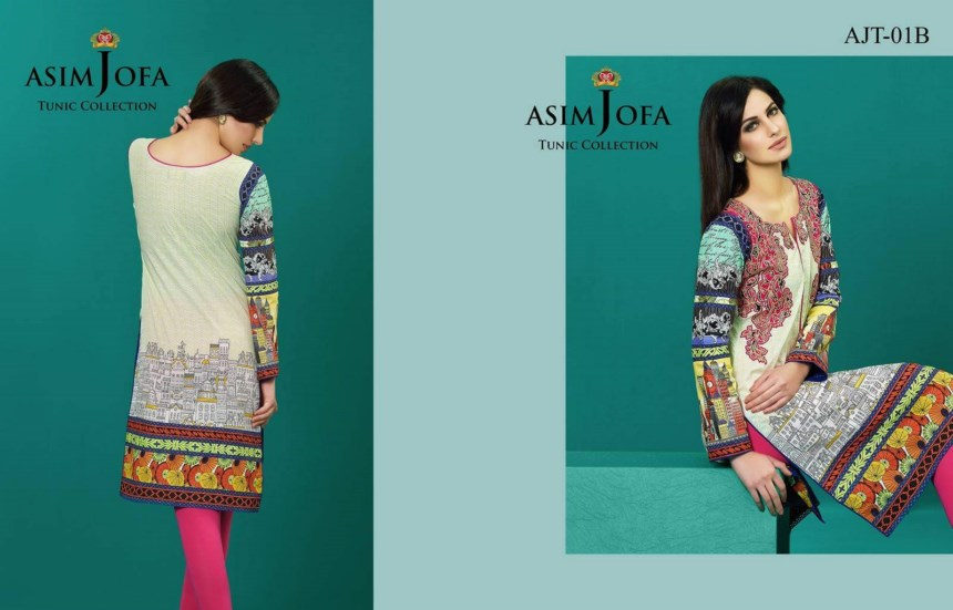 Asim Jofa Tunic Collection 2016-17 for women