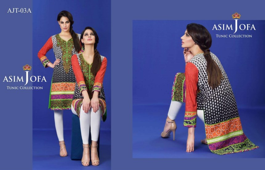 Asim Jofa Tunic Collection 2016 for girls