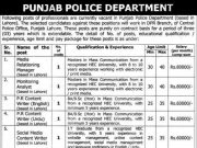 Police Station Assistant Jobs 2016 Punjab Police NTS