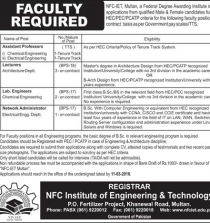 Faculty Required In NFC Institute Of Engineering 2016