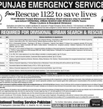 Find Rescue 1122 Jobs 2016 in Lahore & Rawalpindi by NTS