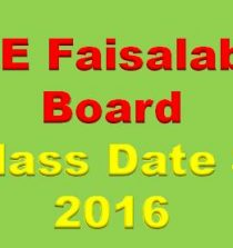 BISE Faisalabad Board 9th & 10th Class Date Sheet 2016
