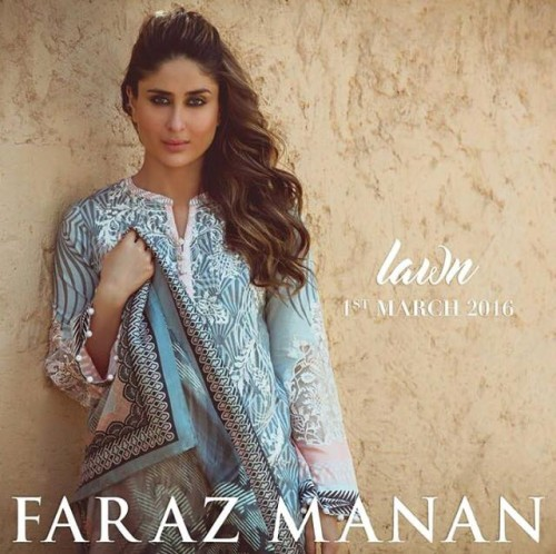 Faraz Manan Summer Lawn Dresses dresse 2016 with Kareena Kapoor (1)
