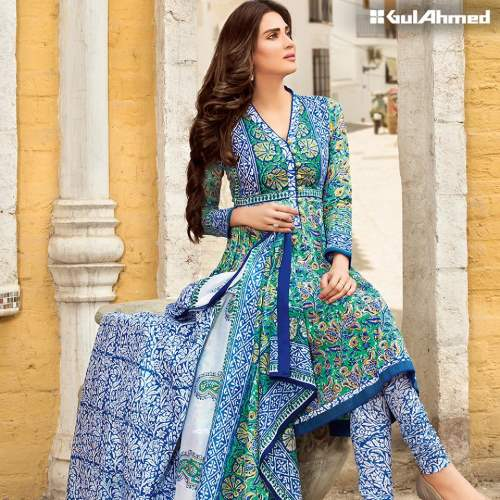 gul ahmed Block Print Lawn summer 2016 prices