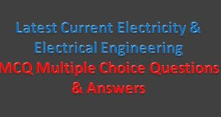Basic Electricity-Electrical Engineering Multiple Choice Questions