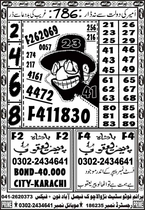 Rs. 40000 Prize Bond Guess Papers March 2017 Lucky Marwat