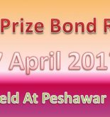 Rupee 750 Prize Bond Result 17 April 2017 Held At Peshawar