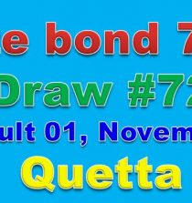 Prize Bond Rs 7500 fULL Draw List in Quetta 1 November 2017