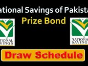 National Prize Bonds Draw Schedule