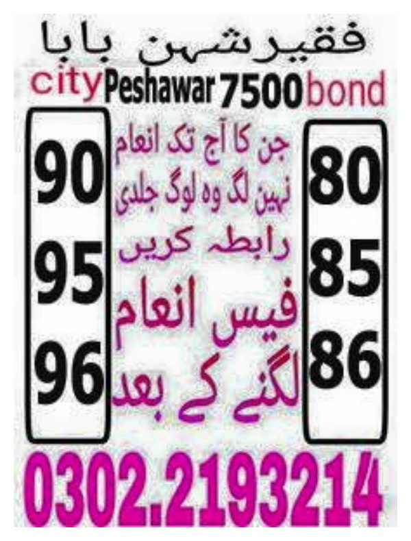 7500 prize bond guess paper February 2018 Peshawar (5)