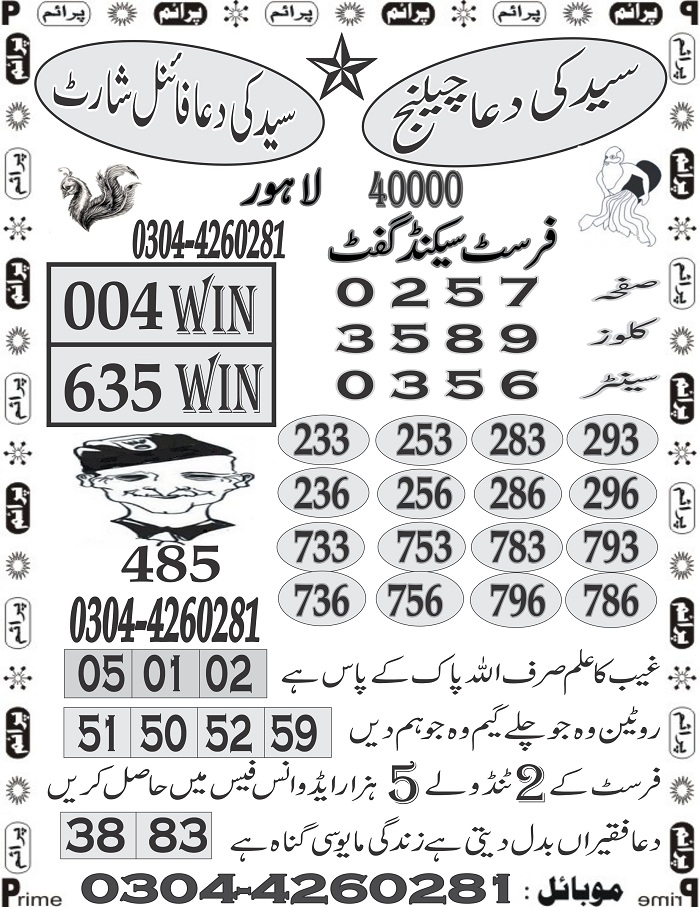 Guess paper Prize Bond 40000 at 1- 03- 2018 (1)