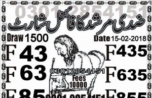 Ziddi murshid 40000 draw new guess paper 01.03.2018