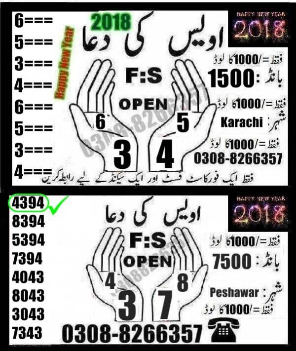 Rs, 1500 Prize bond Guess Papers Karachi 15.02.2018 (21)