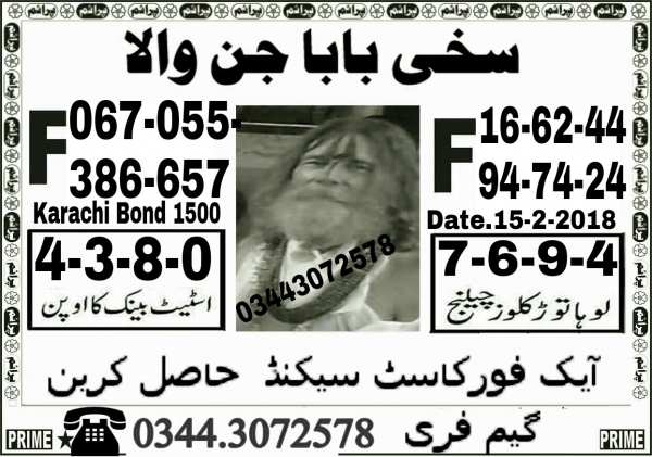 Rs, 1500 Prize bond Guess Papers Karachi 15.02.2018 (10)
