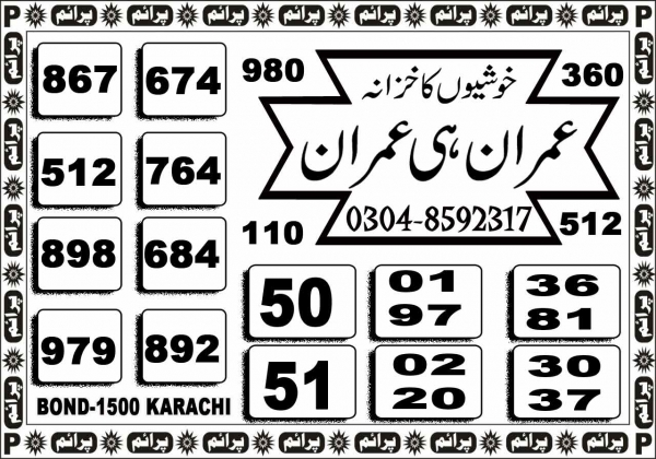 Rs, 1500 Prize bond Guess Papers Karachi 15.02.2018 (4)