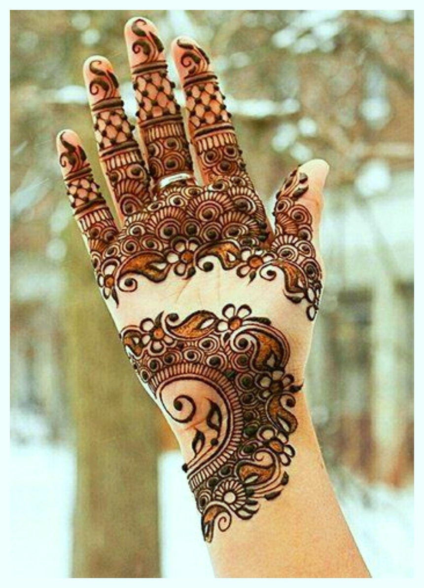 Latest & Fancy Pakistani Mehndi Designs