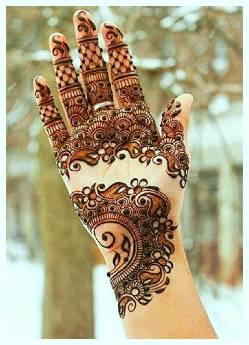 Latest & Fancy Pakistani Mehndi Designs