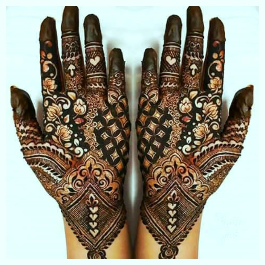 fancy heena mehendi designs