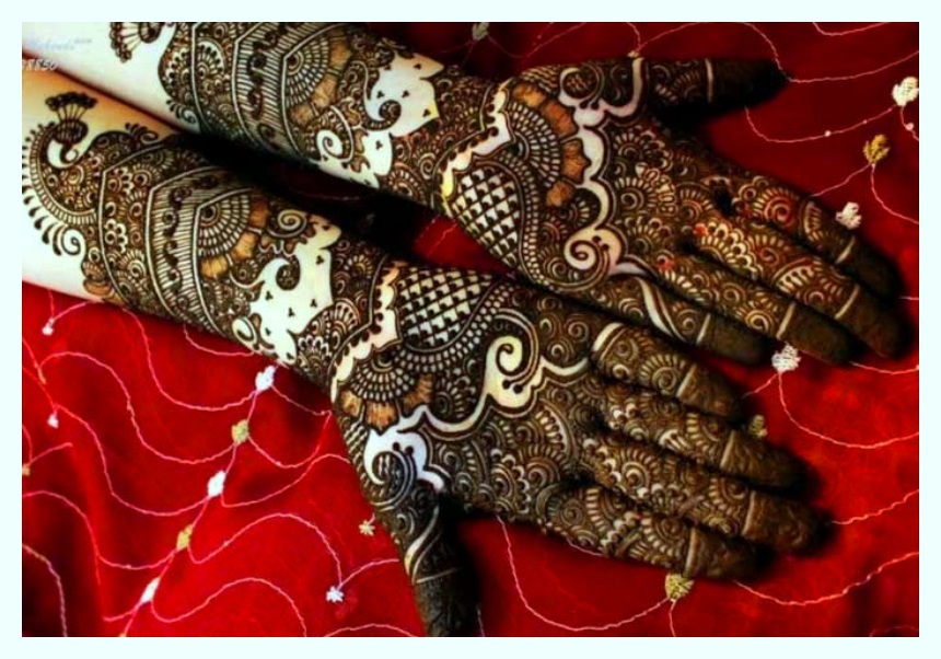 stylish mehndi design for hands