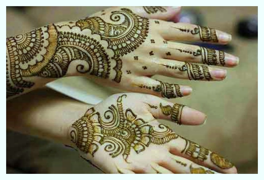 stylish mehndi design for full hands