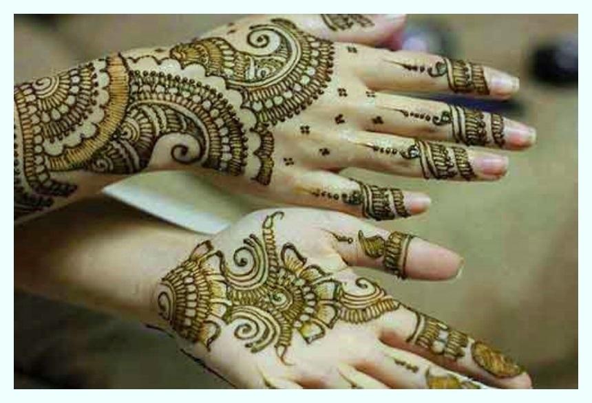 stylish mehndi design for full hands
