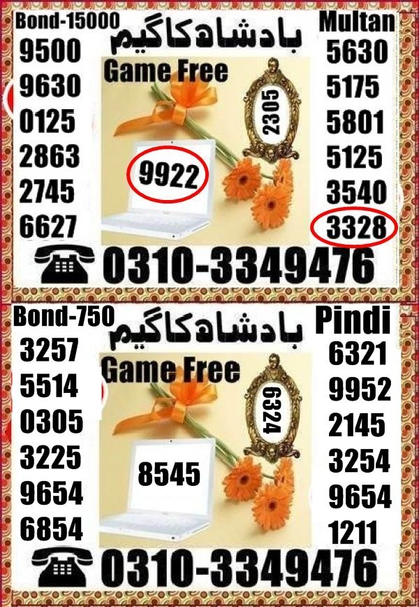 Prize bond 750 Guess Papers Rawalpindi 2021 (3)