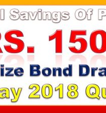 1500 RS. Prize Bond List 2018