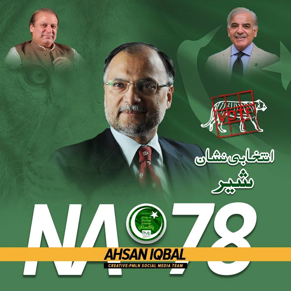 PML-N Candidates for National Assembly general elections 2018