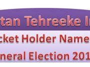 PTI Full Final List of Candidates for Election 2018 Download