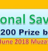 Prize Bond Rs. 200 Draw #74 Full List Result 15-06-2018 Muzaffarabad