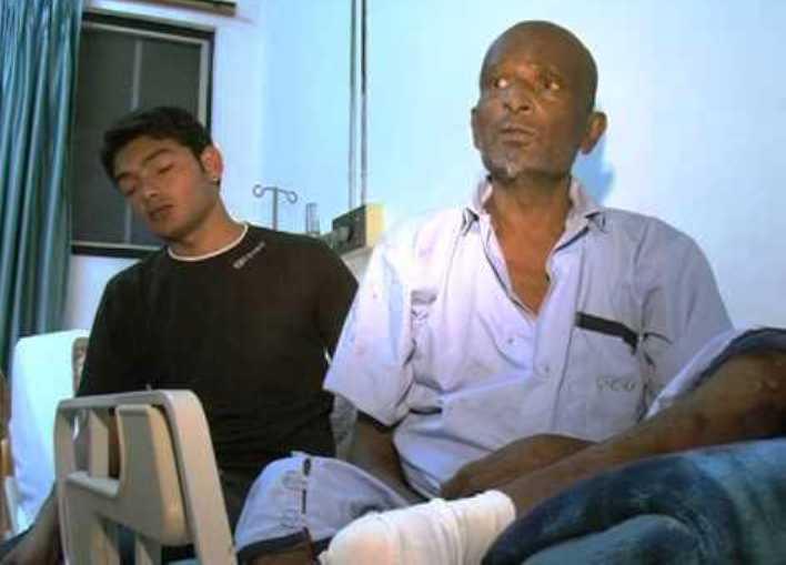 Pakistani actor Babbu Baral in Hospital images