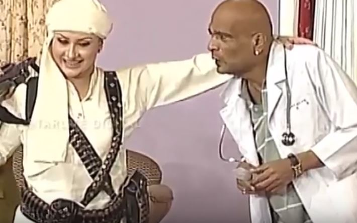 Actor Babbu Baral with Nargis