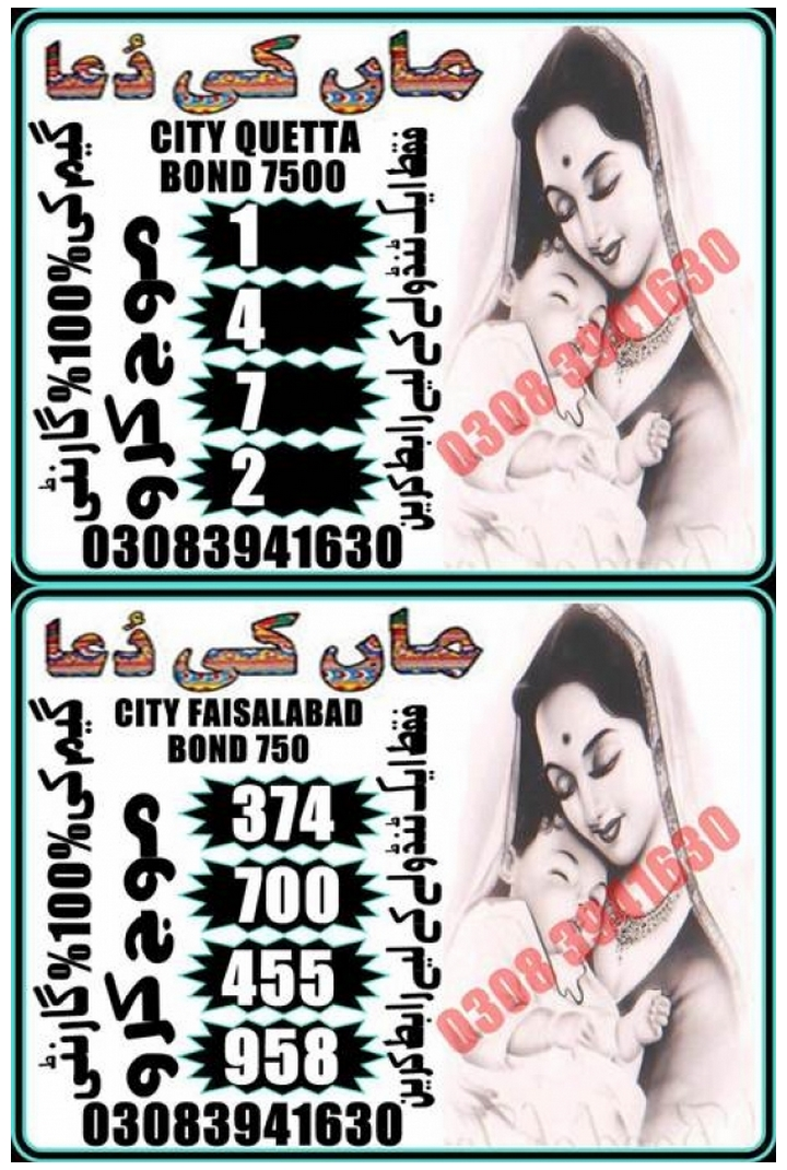 Hakeem Baba Quetta 7500 prize bond guess paper