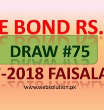 Rs 750 Prize Bond List Draw #75 Result 16th Jul 2018