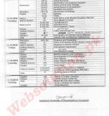 Page 4 BZU DateSheet for M.A/M.Sc Part-ll Annual Examination 2018