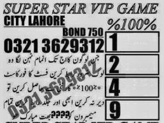 SUPER STAR VIP GAME Rs. 750 Prize Bond Guess Papers