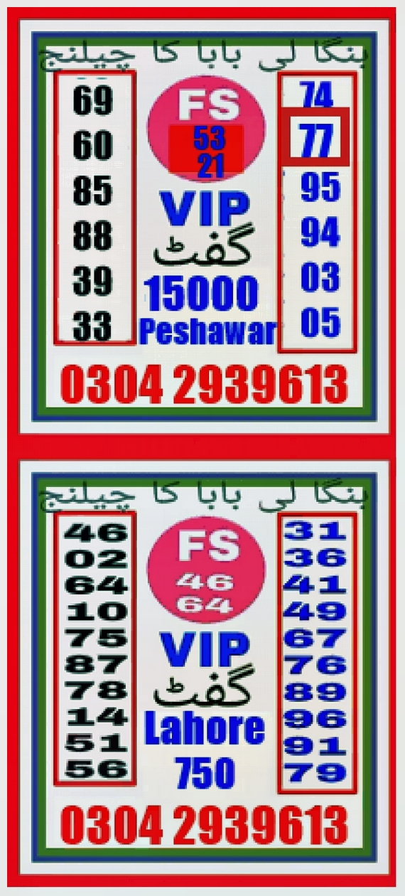 gulam Ali Rs. 750 Prize Bond Guess Papers
