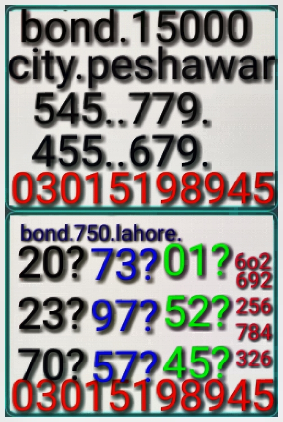 niaz ahmed Rs. 750 Prize Bond Guess Papers
