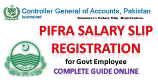 Pifra Registration for Monthly Salary Slip Guide -