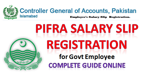 Pifra Salary slip registeration