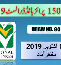 Prize Bond 15000 List - Draw # 80 Result 1st October, 2019
