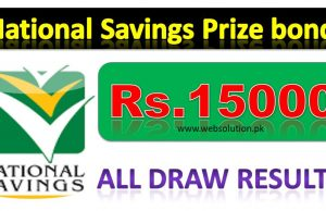 Rs, 15000 Prize bond result online