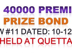 Prize Bond Rs. 40000 Premium Draw #11 Full List Result 10-12-2019 Quetta