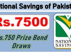 7500 RS. Prize Bond List