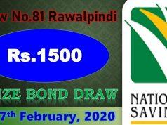 Prize Bond 1500 List 17 February 2020