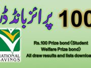 Prize bond Rs. 100 Draw List 2020 Check online