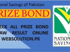 Prize bond Pakistan Draw result