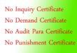 No inquiry certificate