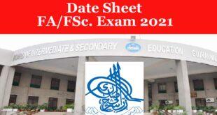 bisesargodha date sheet FA FSc 2021