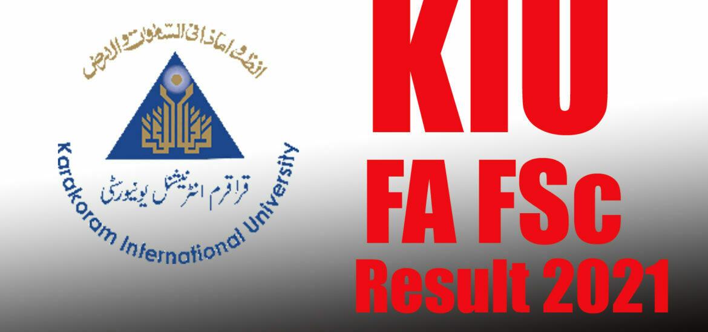 KIU FA FSc result online